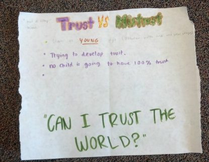 essay on trust vs mistrust